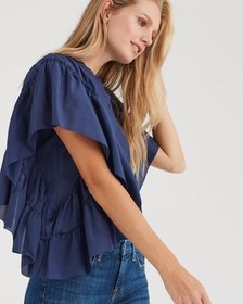 Butterfly Sleeve Top in Midnight Sky