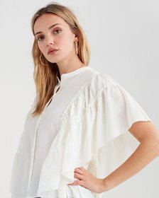 Butterfly Sleeve Top in Ivory