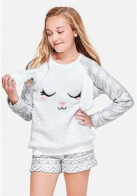 Sleep Snow Bunny Pajama Top