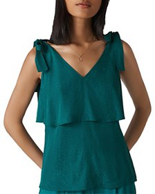 Whistles Whistles - Tiered Jacquard Top
