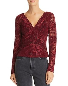 GUESS GUESS - Drea Sheer Flocked Lace Top