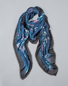 Floral-Print Square Scarf