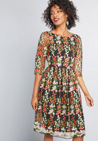 ModCloth ModCloth Duly Dreamy Embroidered A-Line D