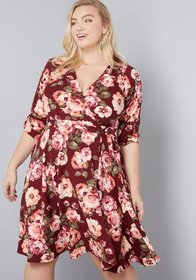ModCloth ModCloth Say Yes to Timeless Wrap Dress W