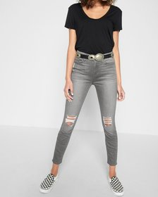 b(air) The Highwaist Ankle Skinny with Knee Holes