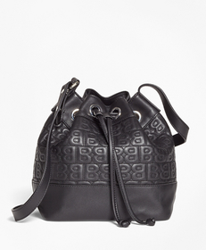"""BB"" Quilted Leather Bucket Bag"