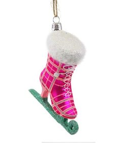 Cody Foster Set of 6 Plaid Ice Skate Ornaments