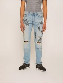 J16 STRAIGHT-FIT GRAFFITI JEAN