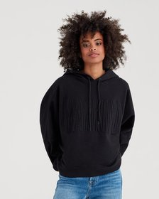 Mankind High-Low Dolman Hoodie with Embroidery in
