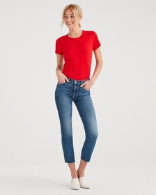 Luxe Vintage Edie with Cut Off Hem and Zip Fly in