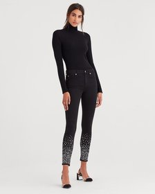 b(air) Denim Ankle Skinny in Black with Rhinestone