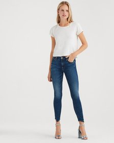 B(air) Denim Ankle Skinny with Spliced Hem in Echo