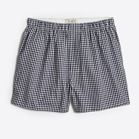 J. Crew Factory factory mens Boxer in navy gingham