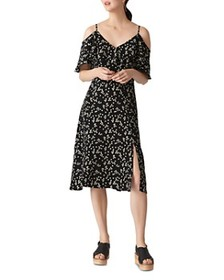 Whistles Whistles - Daisy Print Cold-Shoulder Dres