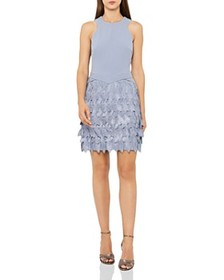 REISS REISS - Flora Leaf-Lace Dress - 100% Exclusi
