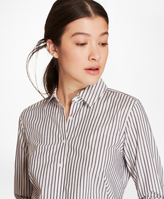 Striped Cotton Dobby Fitted Shirt