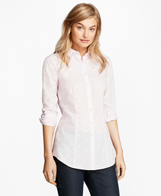 Cotton Jacquard Tailored-Fit Shirt