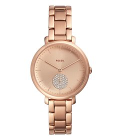 Fossil Jacqueline Three-Hand Rose Gold-Tone Stainl