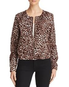 GUESS GUESS - Leopard Print Bomber Jacket