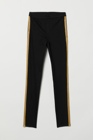 Twill Pants with Side Stripes