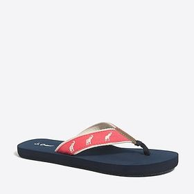 J. Crew Factory factory womens Embroidered flip-fl
