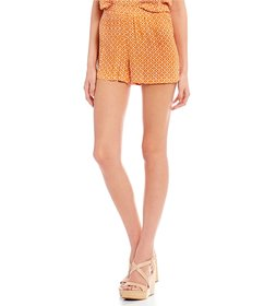 Copper Key Ikat Print Side Tie Shorts