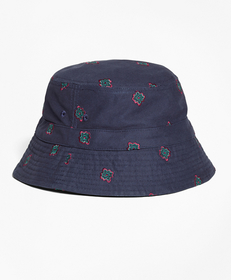 Medallion-Embroidered Bucket Hat