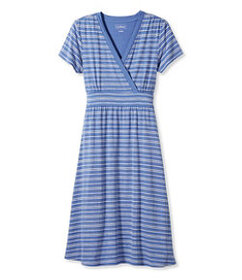 Summer Knit Dress, Short-Sleeve Pebble Stripe Prin