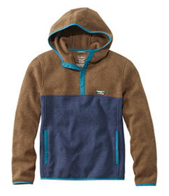 L.L.Bean Sweater Fleece Hooded Pullover, Colorbloc