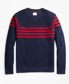 Striped French Terry Crewneck Sweatshirt