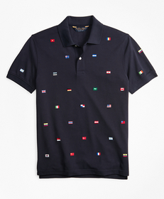 Original Fit Flag Embroidered Polo Shirt