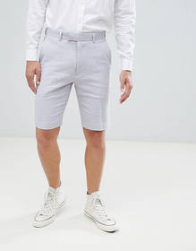 French Connection Wedding Linen Slim Fit Shorts