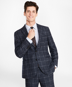 Windowpane Two-Button Suit