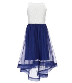 Xtraordinary Big Girls 7-16 Lace-To-Mesh Fit-And-F