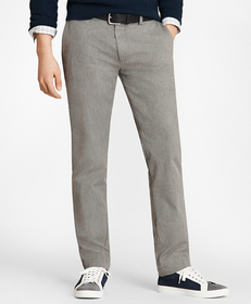 Pinstriped Twill Chinos