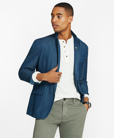 Chambray Two-Button Sport Coat