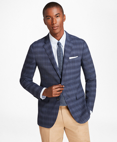 Milano Fit BrooksCool® Plaid with Windowpane Sport