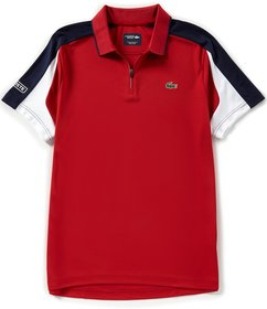 Lacoste Sport Zip-Neck Short-Sleeve Polo Shirt