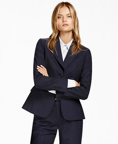 Pinstripe BrooksCool® Two-Button Jacket