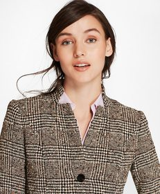 Glen Plaid Tweed Jacket