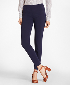 Double-Weave Crepe Ankle Pants