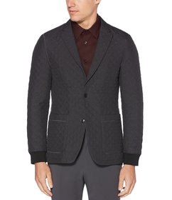 Perry Ellis Slim-Fit Quilted Tech Knit Jacket