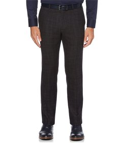 Perry Ellis Slim-Fit Flat-Front Heather Stretch Pa