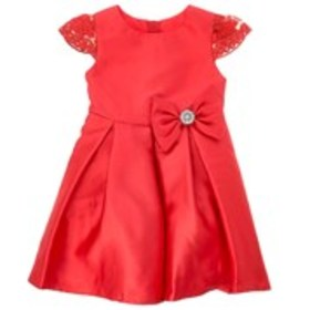 RARE EDITIONS Toddler Girls Lace Sleeve Dress with