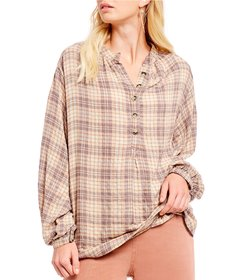 Free People Northern Bound Plaid Western Inspired