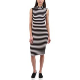 ATM Anthony Thomas Melillo Striped Rib-Knit Dress