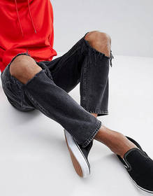 Cheap Monday In Law Tapered Jeans with Blown Out K