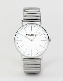 Stratford Watch With White Dial and Silver Strap