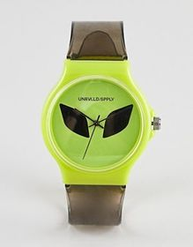 ASOS DESIGN festival watch with alien