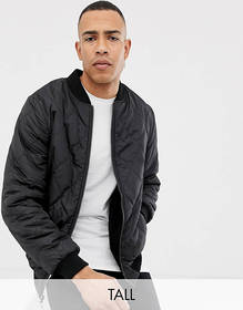 Jacamo Tall quilted jacket with fleece lining